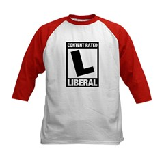Content Rated Liberal Kids Baseball Jersey