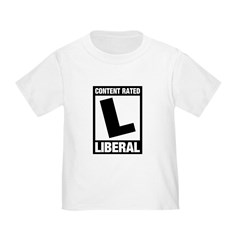 Content Rated Liberal Toddler T-Shirt