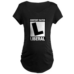 Content Rated Liberal Maternity Dark T-Shirt