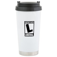 Content Rated Liberal Stainless Steel Travel Mug