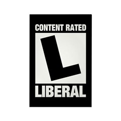 Content Rated Liberal Rectangle Magnet