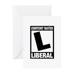 Content Rated Liberal Greeting Card