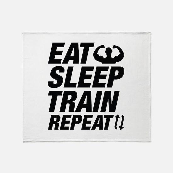 Eat Sleep Train Repeat Stadium Blanket
