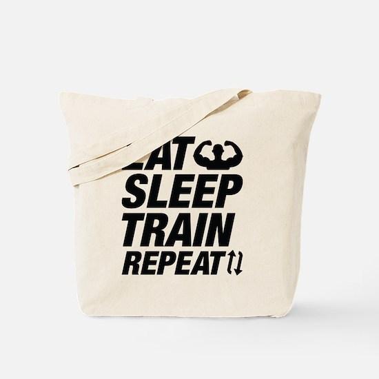 Eat Sleep Train Repeat Tote Bag