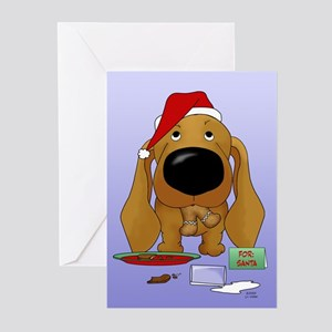 Doxie Santa's Cookies Greeting Cards (Pk of 20)