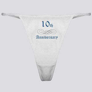 Elegant 10th Anniversary Classic Thong