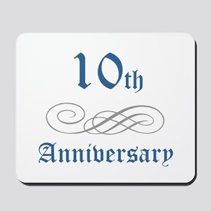 Elegant 10th Anniversary Mousepad