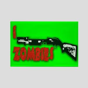 I shotgun zombies! Rectangle Magnet