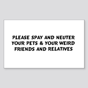 Spay & Neuter Rectangle Sticker