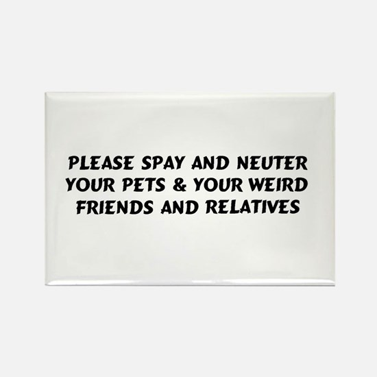 Spay & Neuter Rectangle Magnet