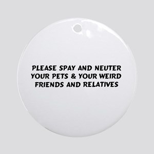 Spay & Neuter Ornament (Round)
