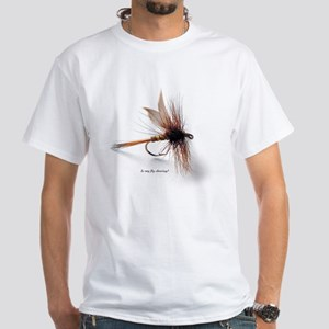 Your fly is showing. White T-Shirt