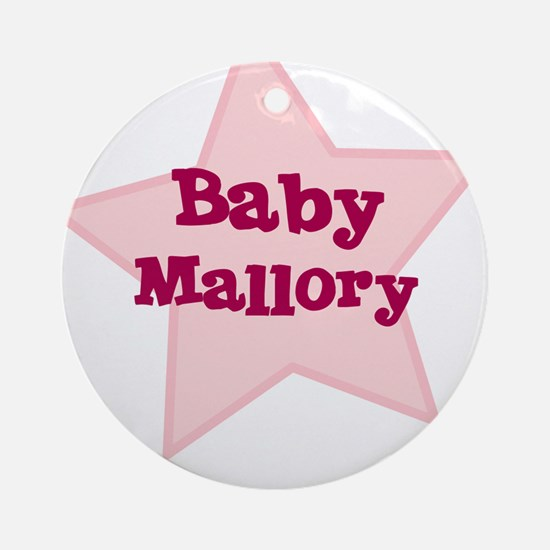 Baby Mallory Ornament (Round)