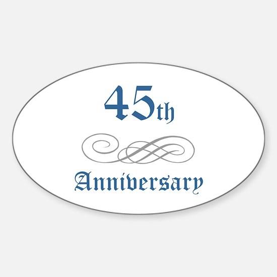 Elegant 45th Anniversary Oval Decal