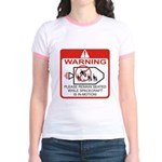 Warning / Spacecraft Jr. Ringer T-Shirt