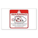 Warning / Spacecraft Rectangle Sticker
