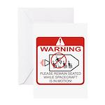 Warning / Spacecraft Greeting Card