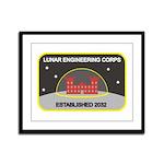 Lunar Engineering Framed Panel Print