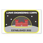 Lunar Engineering Rectangle Sticker