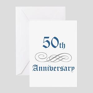 Elegant 50th Anniversary Greeting Card