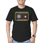 Trans-Lunar Men's Fitted T-Shirt (dark)