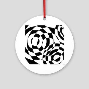 Modern Art Black and White Ornament (Round)