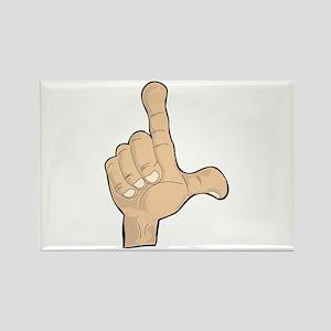 Hand - Loser Fingers Rectangle Magnet