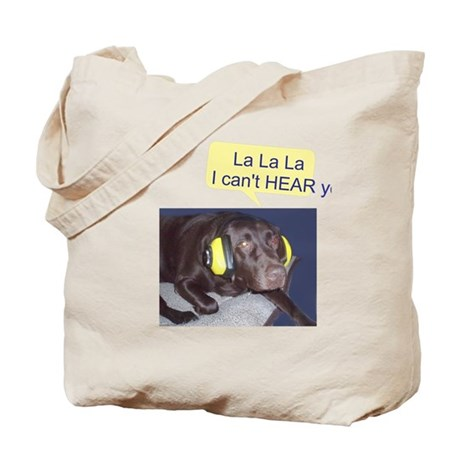 Dog Not Listening Tote Bag