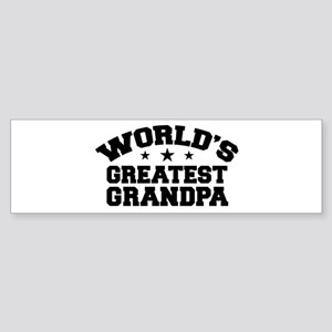 World's Greatest Grandpa Bumper Sticker
