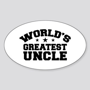 World's Greatest Uncle Oval Sticker