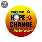 """Hope & Change 3.5"""" Button (10 pack)"""