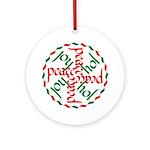 Joy & Peace Ornament (Round)