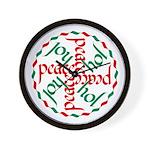 Joy & Peace Wall Clock