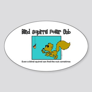 Grover Graphics - Blind Squirrel Oval Sticker