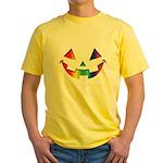 Smiley Halloween Rainbow Yellow T-Shirt