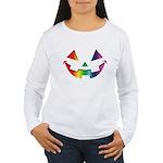 Smiley Halloween Rainbow Women's Long Sleeve T-Shi