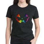Smiley Halloween Rainbow Women's Dark T-Shirt