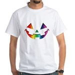 Smiley Halloween Rainbow White T-Shirt