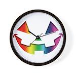 Smiley Halloween Rainbow Wall Clock