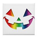 Smiley Halloween Rainbow Tile Coaster