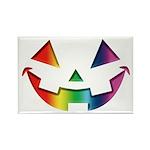 Smiley Halloween Rainbow Rectangle Magnet (10 pack