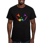 Smiley Halloween Rainbow Men's Fitted T-Shirt (dar