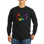 Smiley Halloween Rainbow Long Sleeve Dark T-Shirt