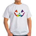 Smiley Halloween Rainbow Light T-Shirt