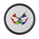 Smiley Halloween Rainbow Large Wall Clock