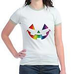 Smiley Halloween Rainbow Jr. Ringer T-Shirt