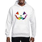 Smiley Halloween Rainbow Hooded Sweatshirt