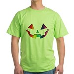 Smiley Halloween Rainbow Green T-Shirt