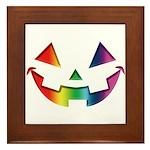 Smiley Halloween Rainbow Framed Tile