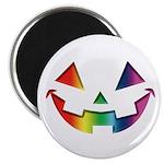 "Smiley Halloween Rainbow 2.25"" Magnet (100 pa"